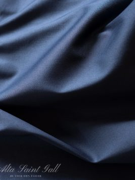 Tailor Box - Cotton satin stretch dark blue