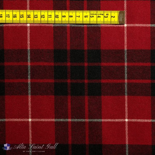 Red Tartan Wool Fabric from Tailor Box