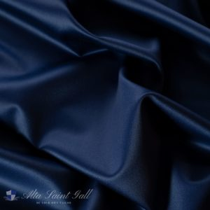 Tailor Box - Wool satin double face navy blue